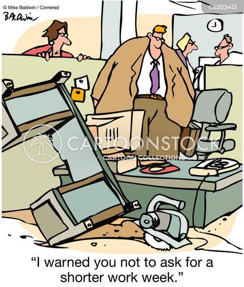 working week cartoon