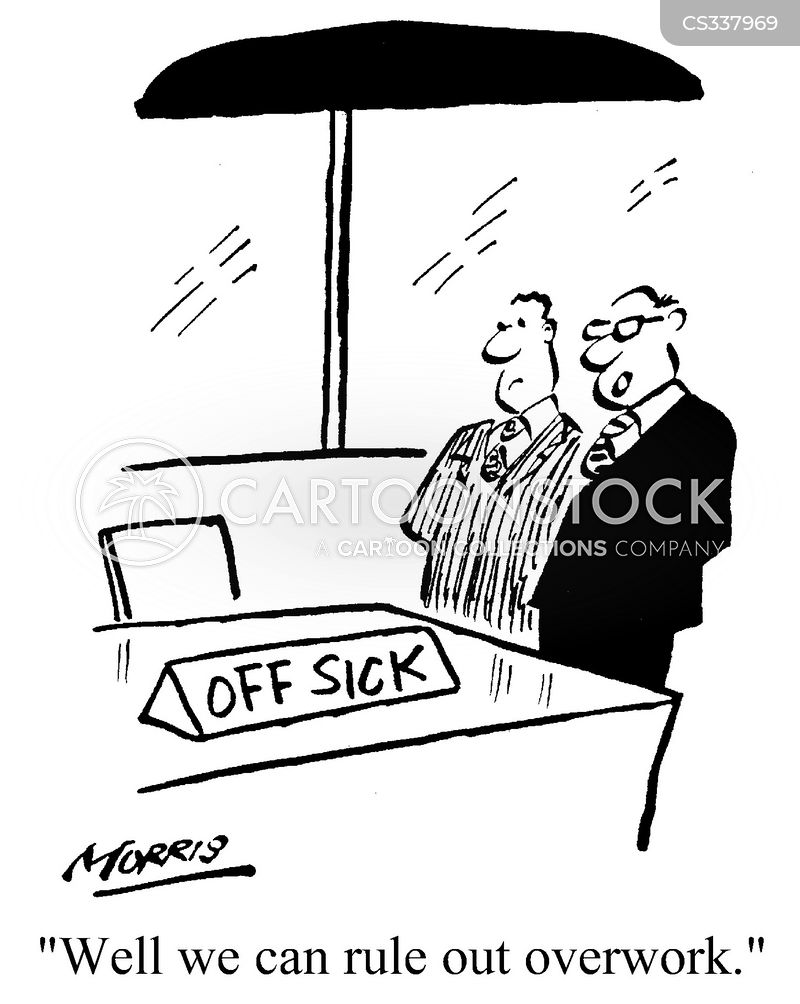 off sick cartoon