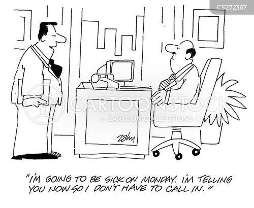 fake illness cartoon