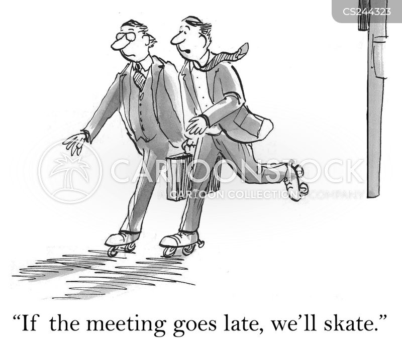 roller skates cartoon