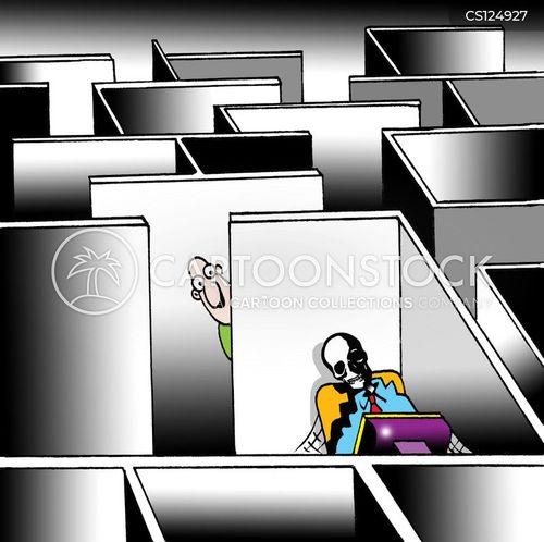 office cubicals cartoon