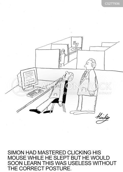 clicking cartoon