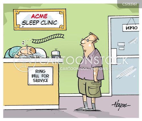 sleeping difficulty cartoon