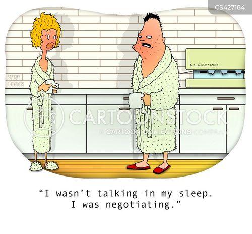 parasomnia cartoon