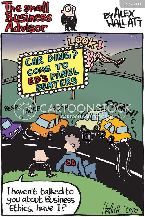 unscrupulous cartoon