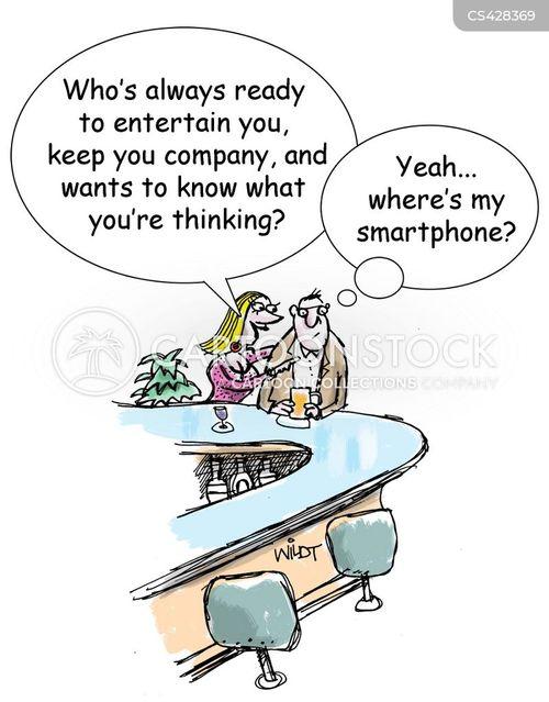 smartphone addiction cartoon
