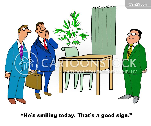 good signs cartoon