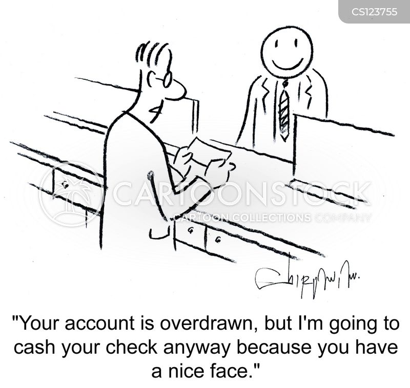 cash withdrawal cartoon