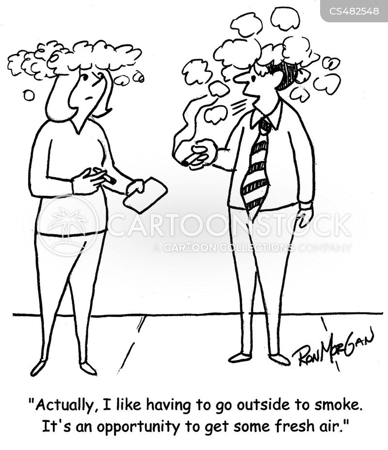 smoke breaks cartoon