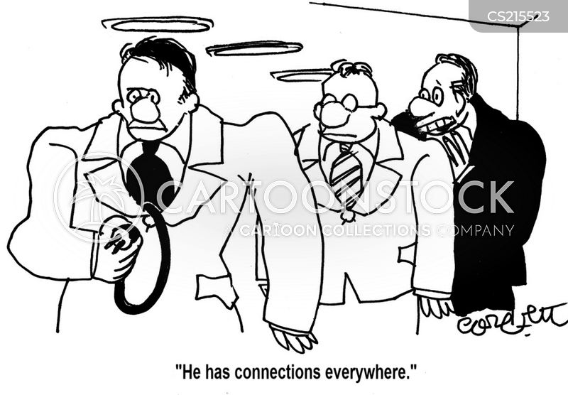 well connected cartoon