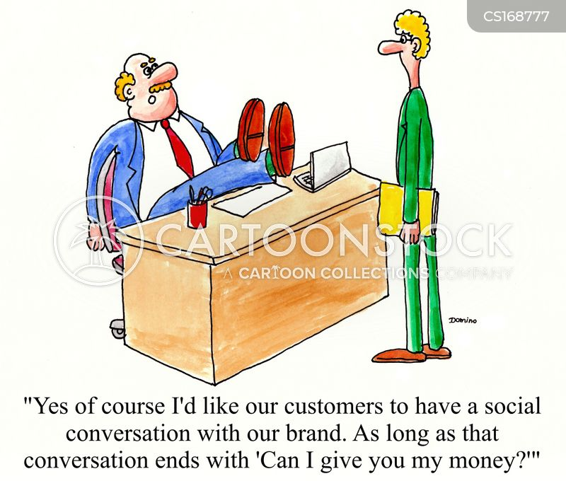 sales tactics cartoon