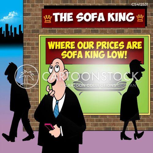 sofa stores cartoon