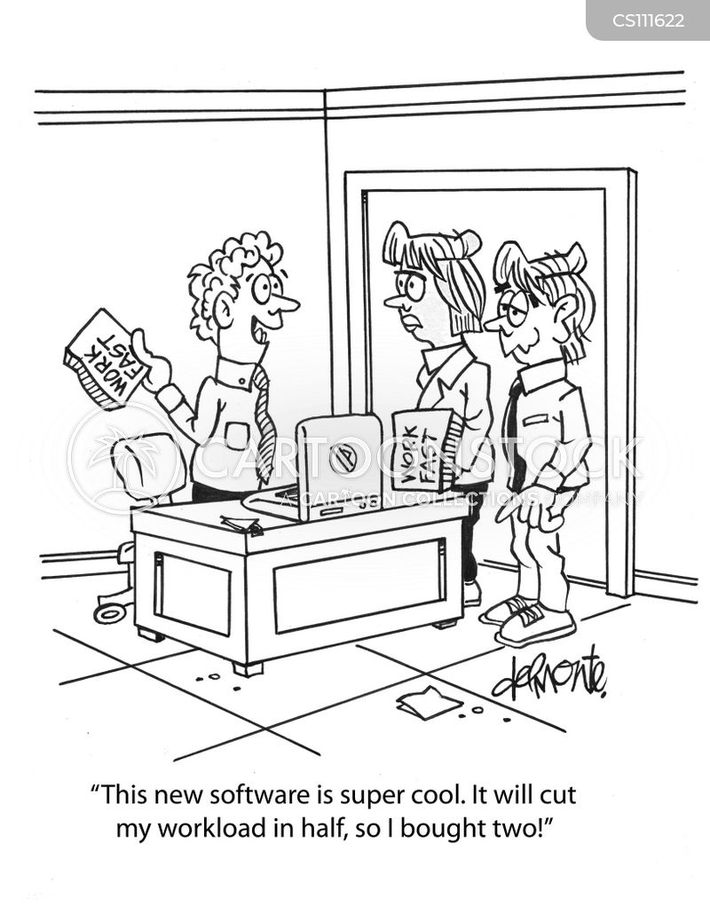 quick software cartoon