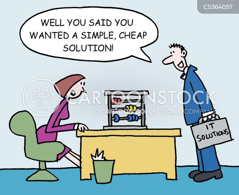 business solutions cartoon