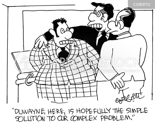 complex problem cartoon