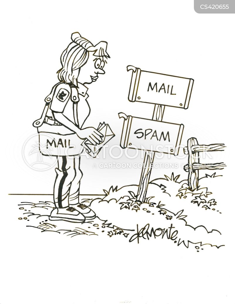 letter boxes cartoon