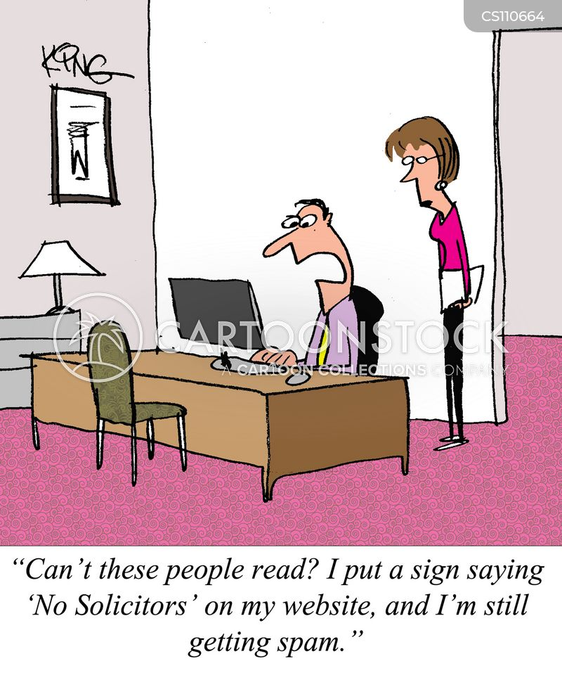 spammers cartoon