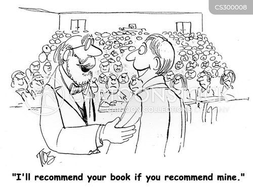 self promotion cartoon