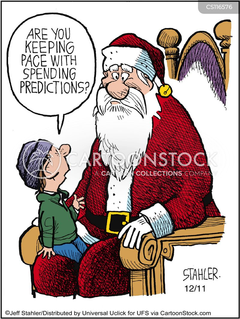 spending prediction cartoon