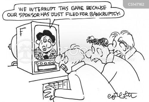 gone bust cartoon