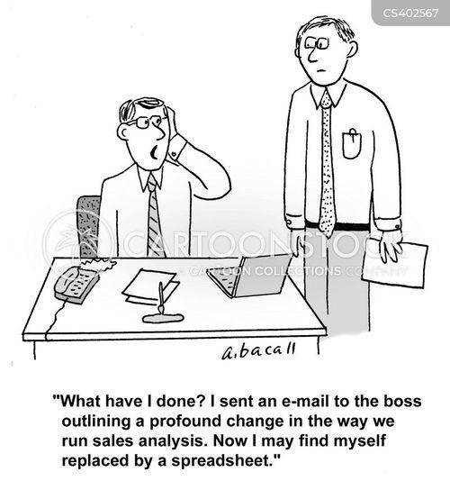 sales analyst cartoon 1 of 1 - Sales Analyst