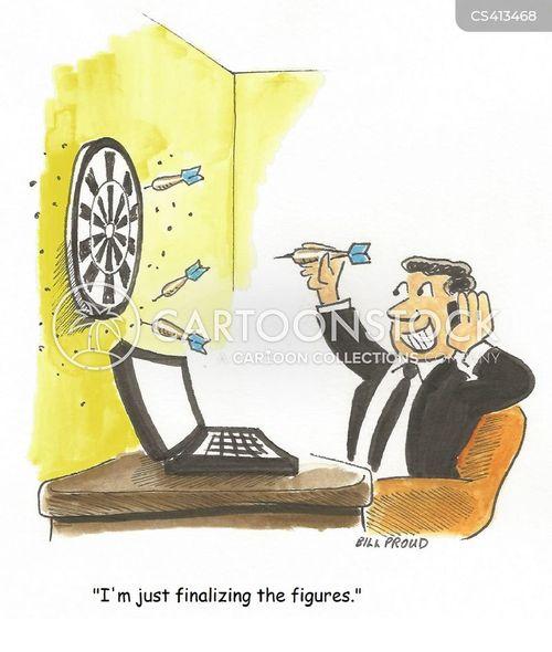 dartsboard cartoon