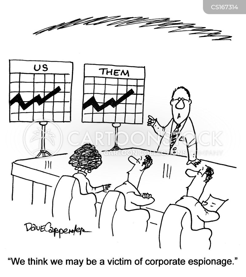 competitive businesses cartoon