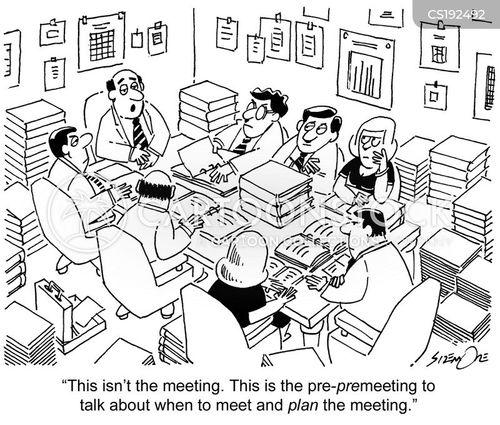 staff meeting cartoon