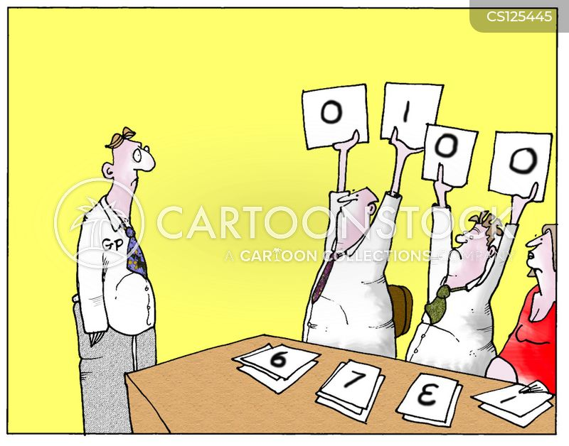 scorecards cartoon