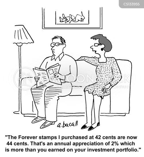 financial gains cartoon