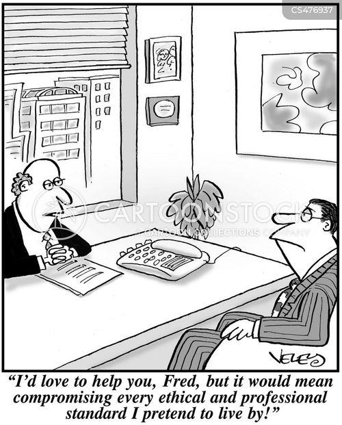 conniving cartoon