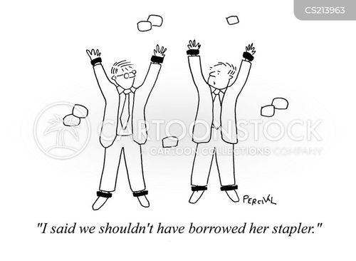 stapled cartoon