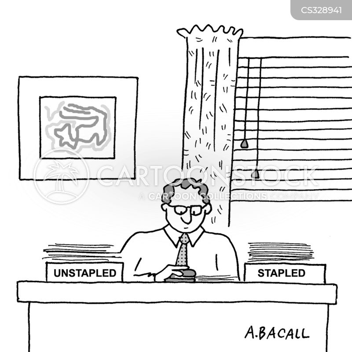 stapling cartoon