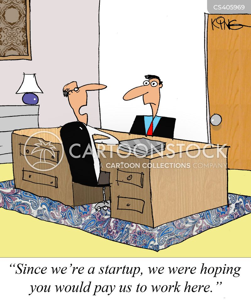 start-up companies cartoon