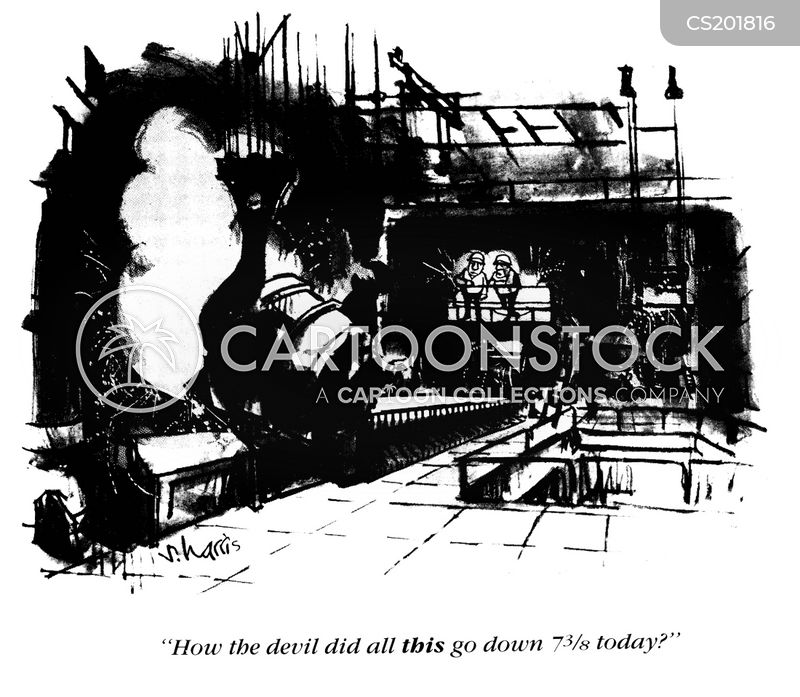 steel works cartoon