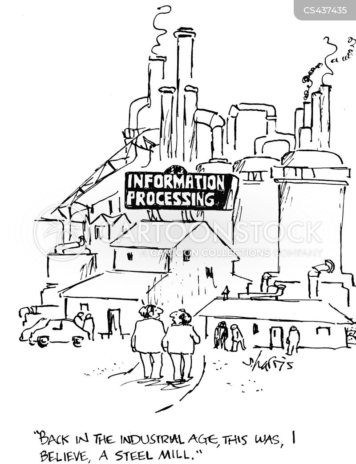 steel mill cartoon