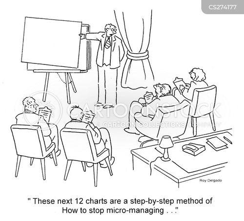 micro-managing cartoon