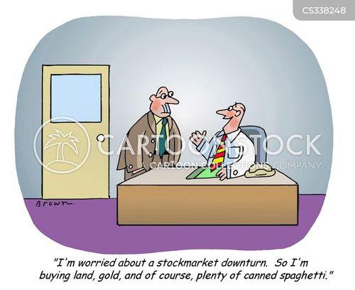 market downturn cartoon