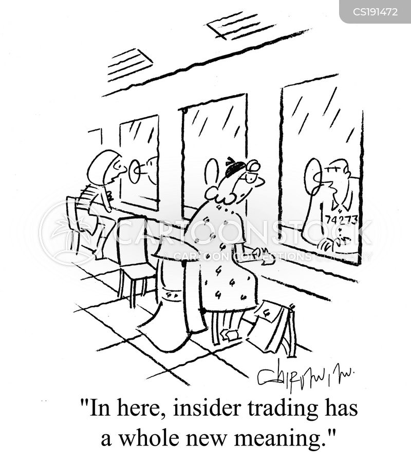 Use 'insider trading' in a Sentence