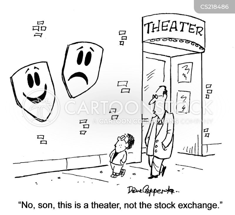 Theatre Masks Cartoons and Comics