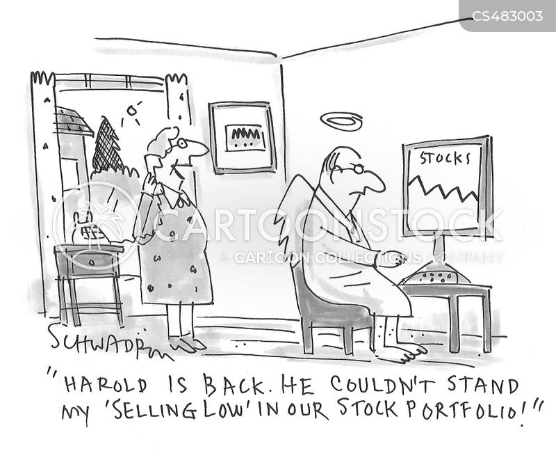 stock trading cartoon