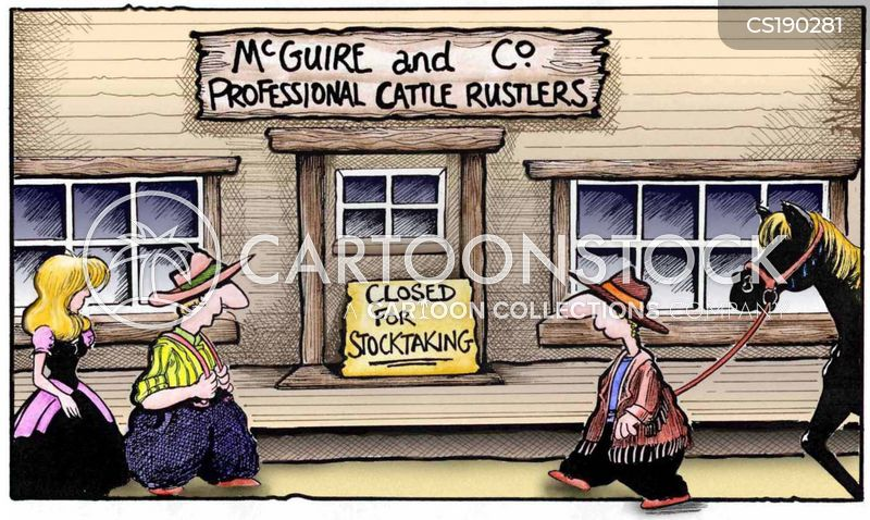 cattle rustling cartoon