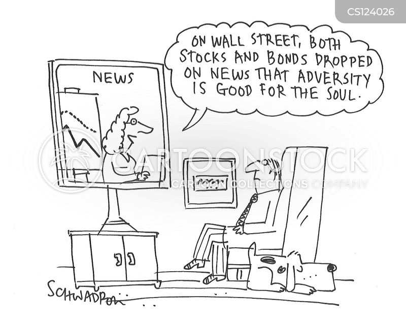 market drop cartoon