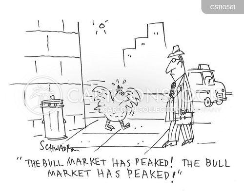 bull markets cartoon
