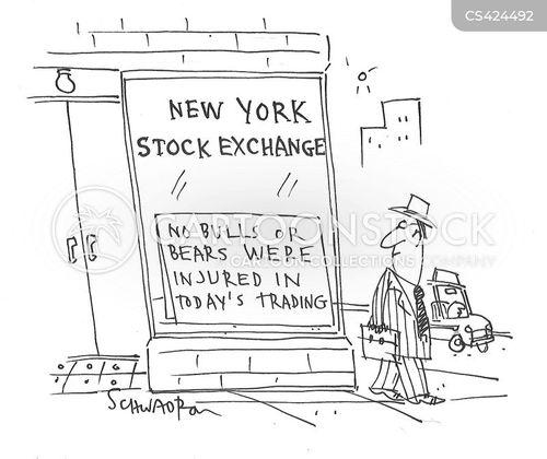 bulls and bears cartoon