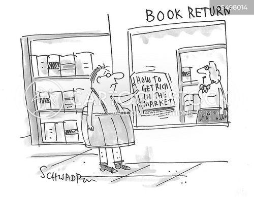 book returns cartoon
