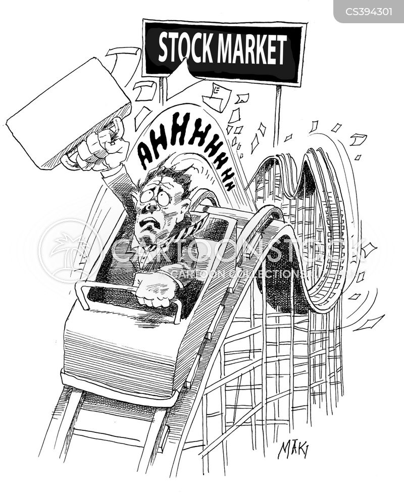 falling share prices cartoon
