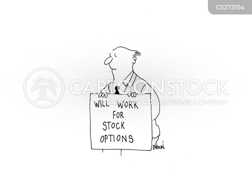 stock option cartoon