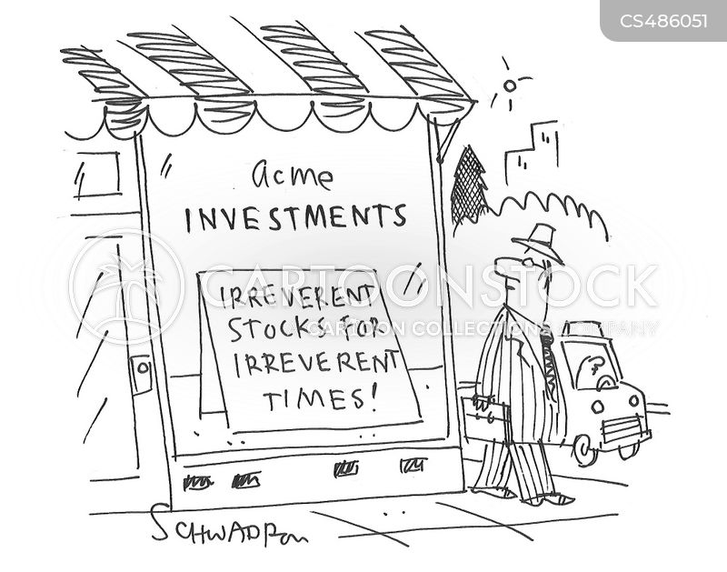 stock traders cartoon
