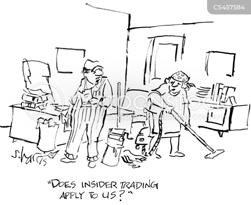 inside trading cartoon